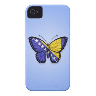 Bandera de la mariposa de Bosnia y Hercegovina en iPhone 4 Case-Mate Protectores