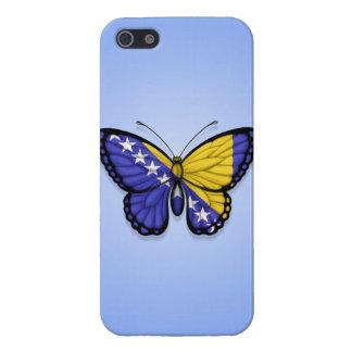 Bandera de la mariposa de Bosnia y Hercegovina en iPhone 5 Protector
