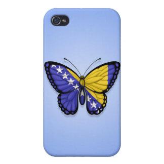 Bandera de la mariposa de Bosnia y Hercegovina en iPhone 4 Protectores