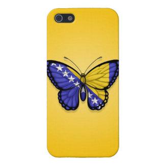 Bandera de la mariposa de Bosnia y Hercegovina en iPhone 5 Cobertura