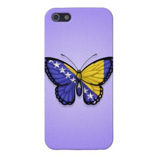 Bandera de la mariposa de Bosnia y Hercegovina en iPhone 5 Cárcasas