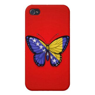 Bandera de la mariposa de Bosnia y Hercegovina en iPhone 4 Fundas