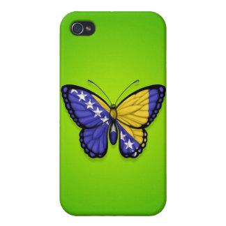 Bandera de la mariposa de Bosnia y Hercegovina en iPhone 4 Funda