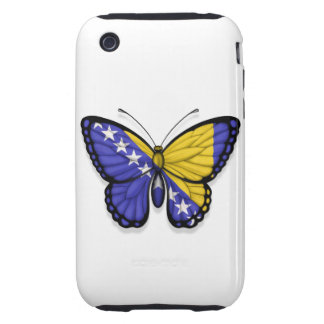 Bandera de la mariposa de Bosnia y Hercegovina iPhone 3 Tough Cárcasas