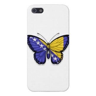 Bandera de la mariposa de Bosnia y Hercegovina iPhone 5 Cárcasas