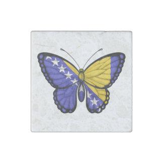 Bandera de la mariposa de Bosnia y Hercegovina Imán De Piedra
