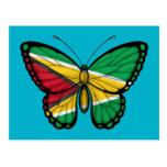 Bandera de la mariposa de Guyana Postal