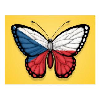 Bandera de la mariposa de la República Checa en am Postales