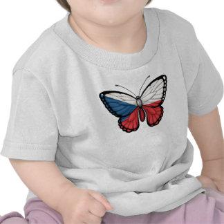 Bandera de la mariposa de la República Checa Camiseta