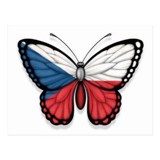 Bandera de la mariposa de la República Checa Postales