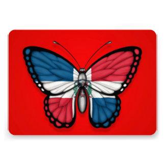Bandera de la mariposa de la República Dominicana Invitacion Personal