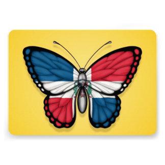 Bandera de la mariposa de la República Dominicana Invitacion Personalizada