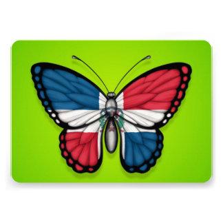 Bandera de la mariposa de la República Dominicana Invitación
