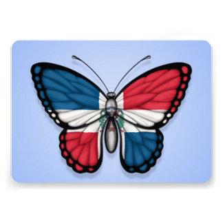 Bandera de la mariposa de la República Dominicana Invitación Personalizada