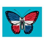 Bandera de la mariposa de la República Dominicana Postal