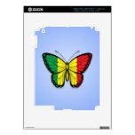 Bandera de la mariposa de Malí en azul iPad 3 Skins