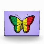 Bandera de la mariposa de Malí en púrpura