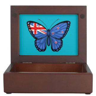 Bandera de la mariposa de Nueva Zelanda Caja De Recuerdos