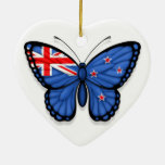 Bandera de la mariposa de Nueva Zelanda Ornamento Para Reyes Magos