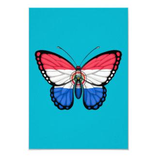 """Bandera de la mariposa de Paraguay Invitación 3.5"""" X 5"""""""