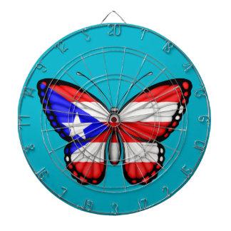 Bandera de la mariposa de Puerto Rico Tabla Dardos