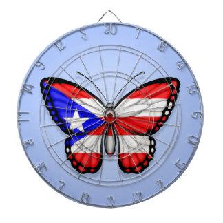 Bandera de la mariposa de Puerto Rico en azul Tabla Dardos