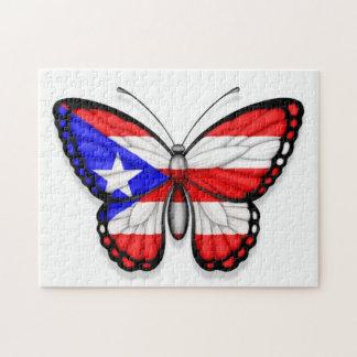 Bandera de la mariposa de Puerto Rico Rompecabezas Con Fotos