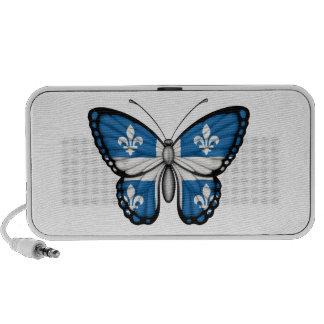 Bandera de la mariposa de Quebec Altavoces De Viajar
