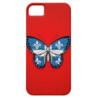 Bandera de la mariposa de Quebec en rojo iPhone 5 Case-Mate Protector