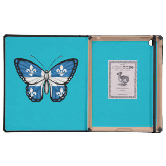 Bandera de la mariposa de Quebec iPad Cárcasa