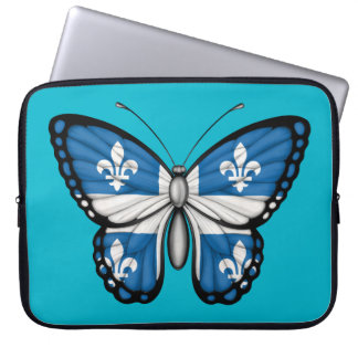 Bandera de la mariposa de Quebec Funda Computadora