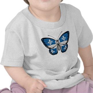 Bandera de la mariposa de Quebec Camiseta
