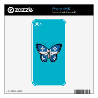 Bandera de la mariposa de Quebec Skin Para El iPhone 4