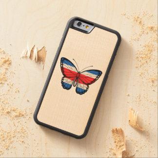 Bandera de la mariposa de Rican de la costa Funda De iPhone 6 Bumper Arce