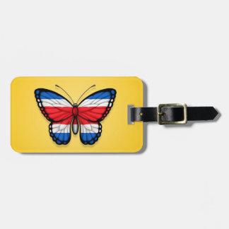 Bandera de la mariposa de Rican de la costa en ama Etiquetas Maletas