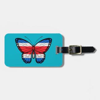 Bandera de la mariposa de Rican de la costa Etiquetas Para Maletas