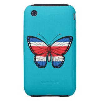 Bandera de la mariposa de Rican de la costa Tough iPhone 3 Carcasas