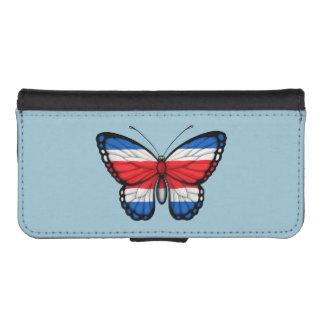 Bandera de la mariposa de Rican de la costa Funda Tipo Cartera Para iPhone 5