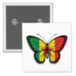 Bandera de la mariposa de Senegal Pins