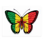Bandera de la mariposa de Senegal Postal