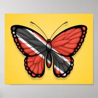 Bandera de la mariposa de Trinidad and Tobago en a Posters