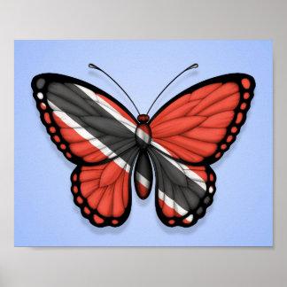 Bandera de la mariposa de Trinidad and Tobago en a Impresiones