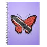 Bandera de la mariposa de Trinidad and Tobago en p Note Book