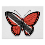Bandera de la mariposa de Trinidad and Tobago Posters
