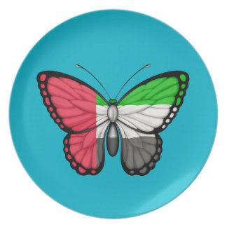 Bandera de la mariposa de United Arab Emirates Platos