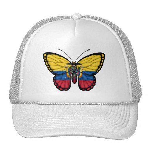 Bandera de la mariposa del Ecuadorian Gorros