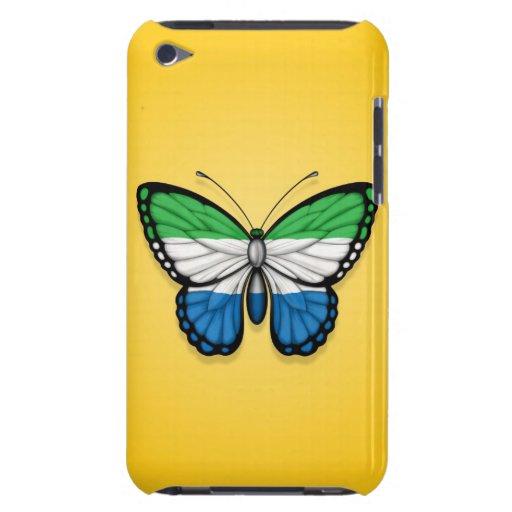 Bandera de la mariposa del Sierra Leone en amarill iPod Touch Case-Mate Coberturas