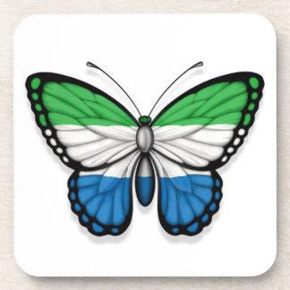 Bandera de la mariposa del Sierra Leone Posavasos De Bebidas
