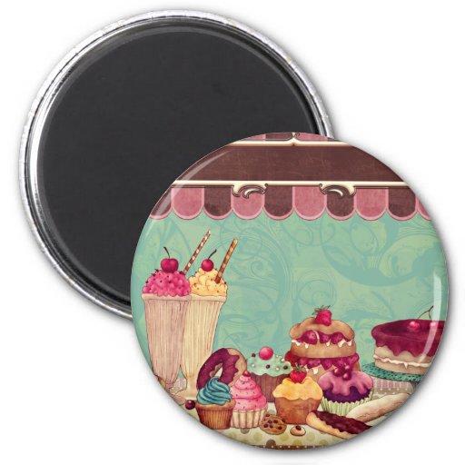 Bandera de la muestra del fiesta de la torta de la imán redondo 5 cm