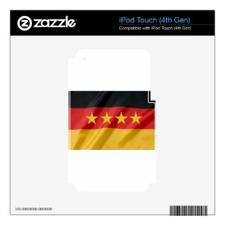 bandera de la mundo-taza skins para iPod touch 4G